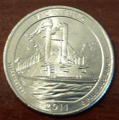 2011-P Vicksburg National Park Quarter - From Mint Roll (5901)