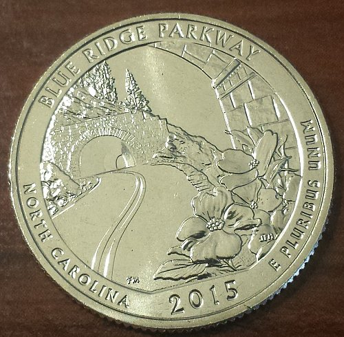 2015-S Blue Ridge Parkway NP America the Beautiful Quarter - From Mint Roll 5915