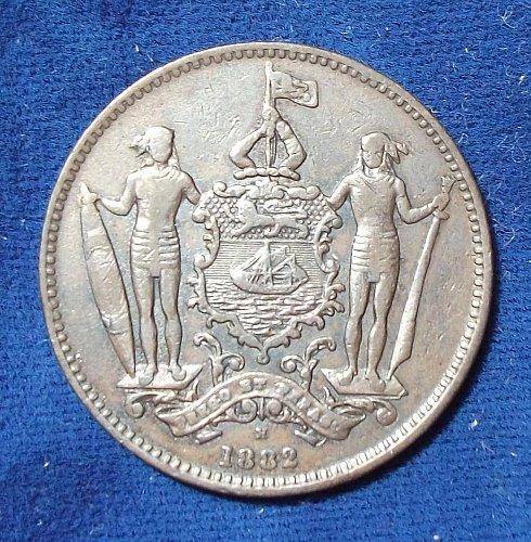 1882H British North Borneo Cent VF