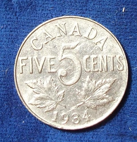 1934 Canada 5 Cents XF