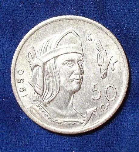 1950 Mexico 50 Centavos AU+++