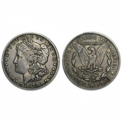 1878 CC $1 Morgan Silver Dollar - XF