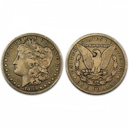 1880 CC $1 Morgan Silver Dollar - VF