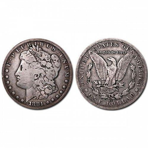 1881 CC $1 Morgan Silver Dollar - VG