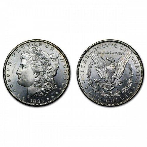 1882 CC $1 Morgan Silver Dollar - BU