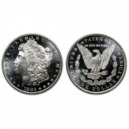 1883 CC $1 Morgan Silver Dollar - MS63+ - Proof Like