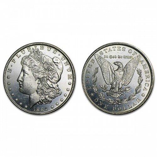 1884 CC $1 Morgan Silver Dollar - BU