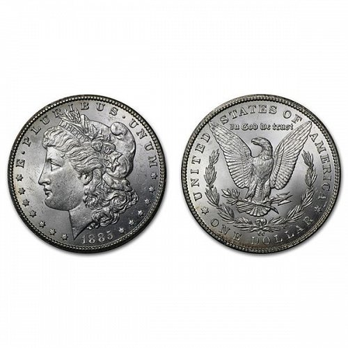 1885 CC $1 Morgan Silver Dollar - BU