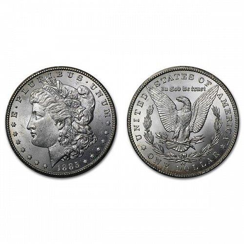 1885 CC $1 Morgan Silver Dollar - BU
