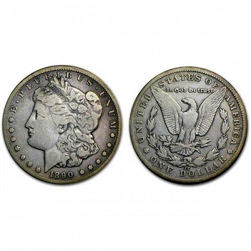 1890 CC $1 Morgan Silver Dollar - Fine