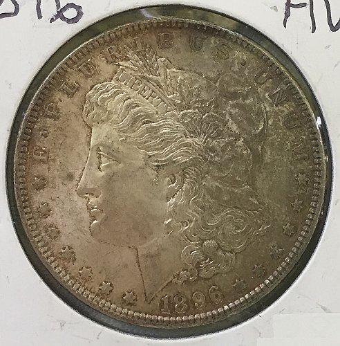 1896 P Morgan Dollar - Toned