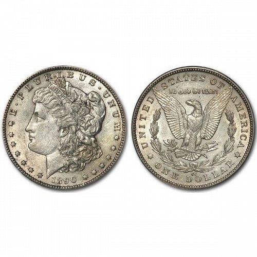 1890 CC $1 Morgan Silver Dollar - AU
