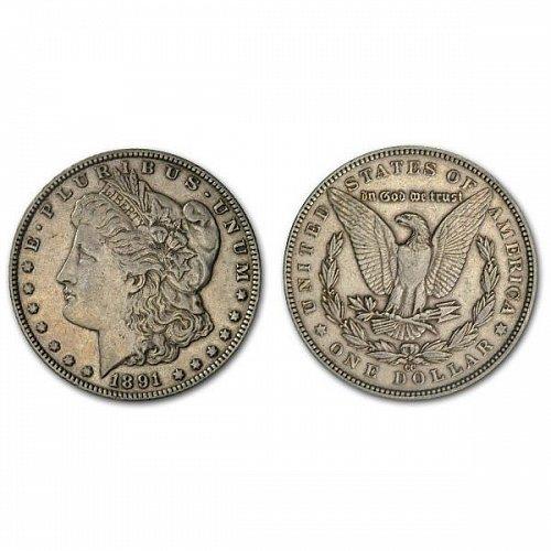 1891 CC $1 Morgan Silver Dollar - XF