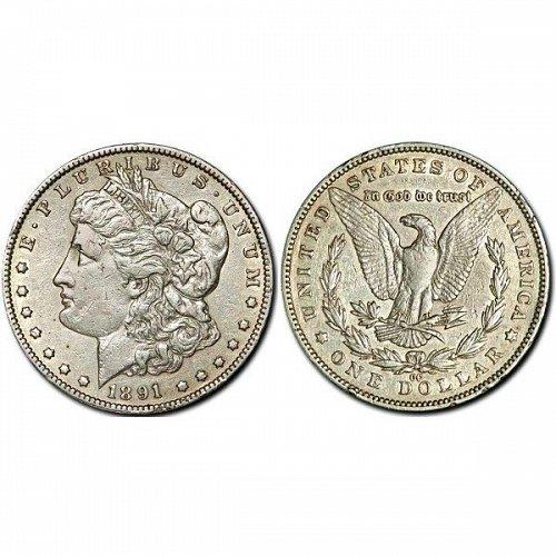 1891 CC $1 Morgan Silver Dollar - AU