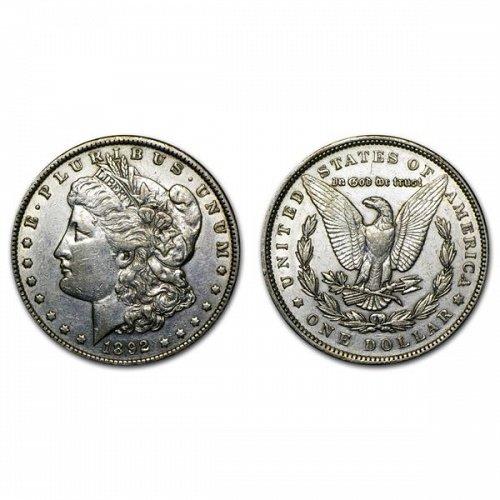 1892 CC $1 Morgan Silver Dollar - AU