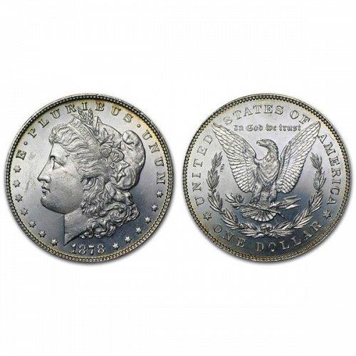 1878 $1 7/8TF Morgan Silver Dollar - BU