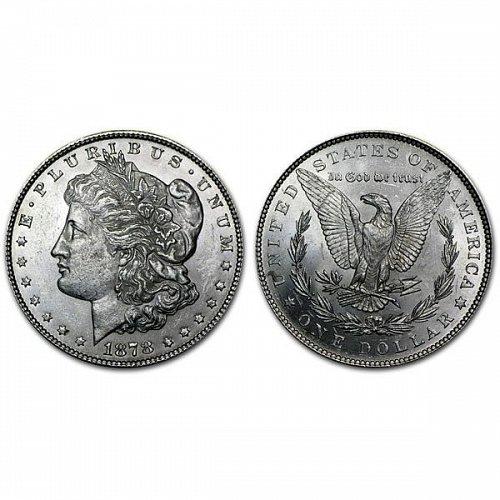 1878 $1 7TF Morgan Silver Dollar Rev of 79 - BU