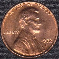 1972 S Lincoln Memorial Cent