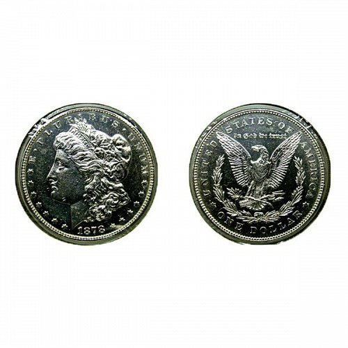1878 7TF Rev of 78 Morgan Silver Dollar PL - Weak - Proof Like