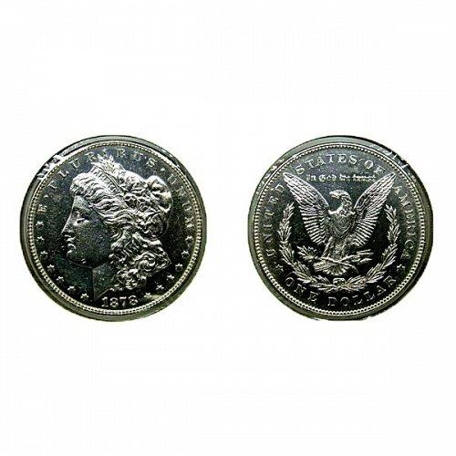 1878 7TF Rev of 78 Morgan Silver Dollar PL - Weak - Proof Like