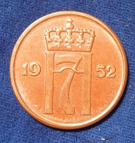 1952 Norway 5 Ore XF