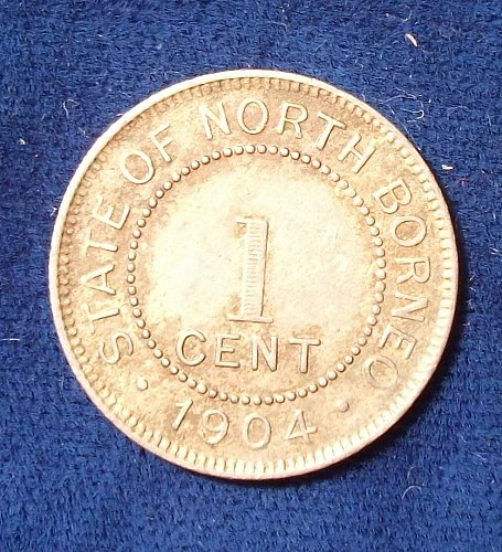 1904H British North Borneo Cent VF