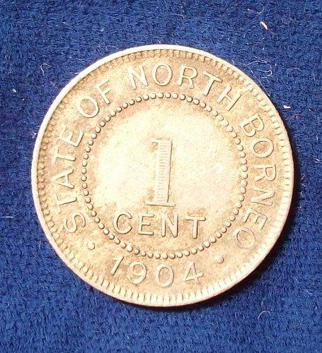 1904H British North Borneo Cent VF