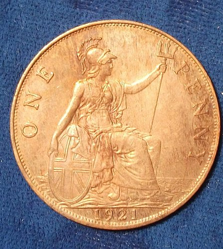 1921 Great Britain Penny AU