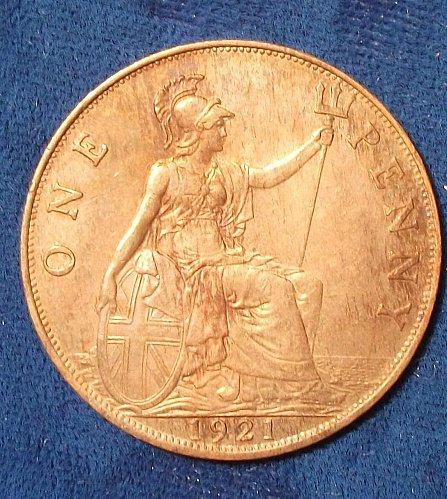 1921 Great Britain Penny AU