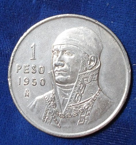 1950 Mexico Peso XF, One Year Type