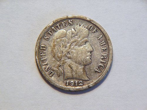 1912-D Silver Barber Dime