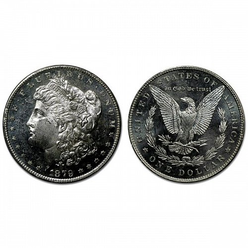 1879 P Morgan Silver Dollar - MS63+ - Proof Like