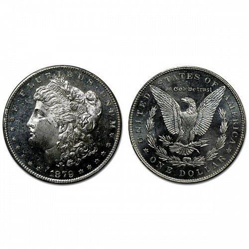 1879 P Morgan Silver Dollar - MS63+ - Proof Like