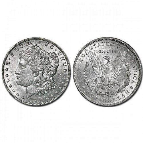 1880 Morgan Silver Dollar - AU