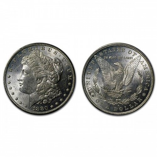 1880 O Morgan Silver Dollar - BU