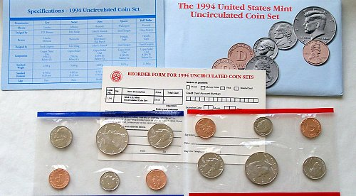 1994 US  P-&-D Uncirculated MINT SETS IN ORIGINAL PACKAGE