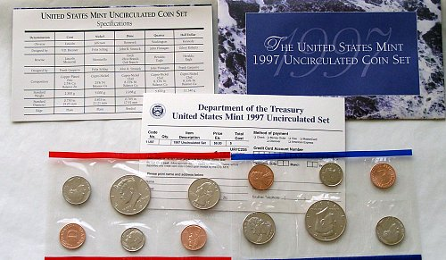 1997 US  P-&-D Uncirculated MINT SETS IN ORIGINAL PACKAGE