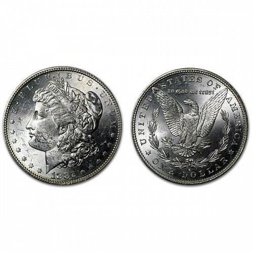 1882 S Morgan Silver Dollar - BU