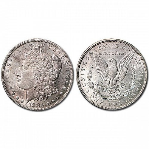 1883 Morgan Silver Dollar - AU