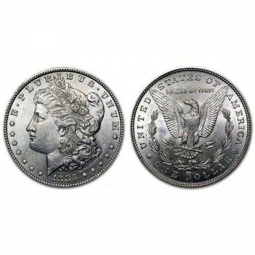 1883 Morgan Silver Dollar - BU