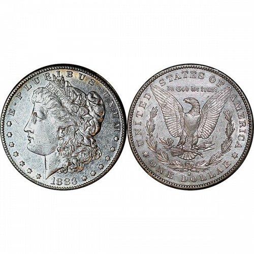 1883 S Morgan Silver Dollar - AU