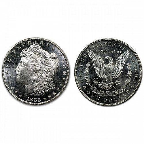 1883 Morgan Silver Dollar - PL - Proof Like