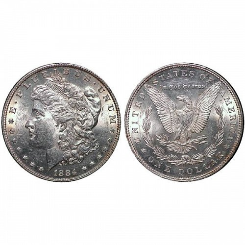 1884 Morgan Silver Dollar - AU