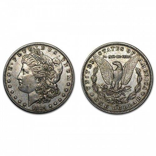 1884 S Morgan Silver Dollar - AU