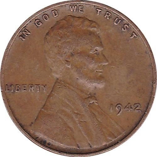 1942 Lincoln Wheat Cent --FINE-- Free Shipping