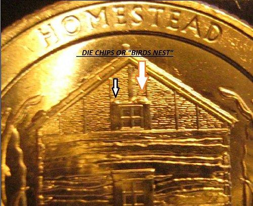 2015 p Neb Homestead Quarter Enormous die chip window