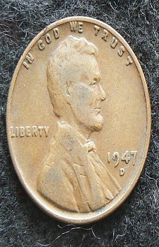 1947 D Lincoln Wheat Cent (F-12)