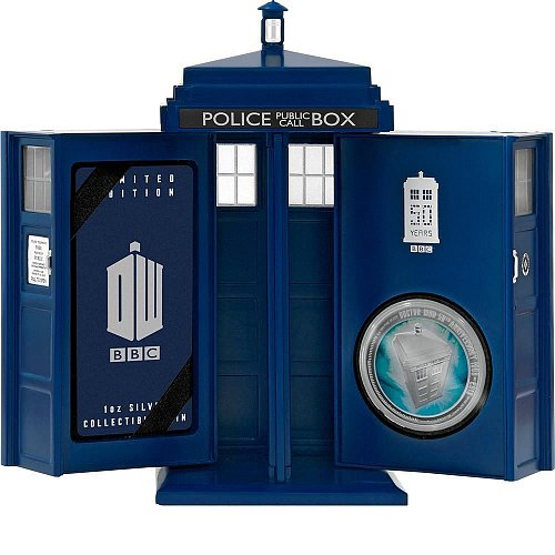 Limited Mintage! DOCTOR WHO 50TH ANNIVERSARY 2013 1OZ SILVER PROOF COIN TARDIS