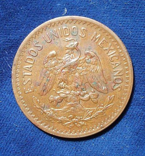 1921 Mexico 10 Centavos XF