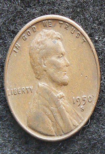 1950 S Lincoln Wheat Cent (VF-20)